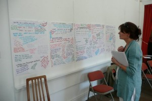 Looking at whiteboard credit Steve Dearden
